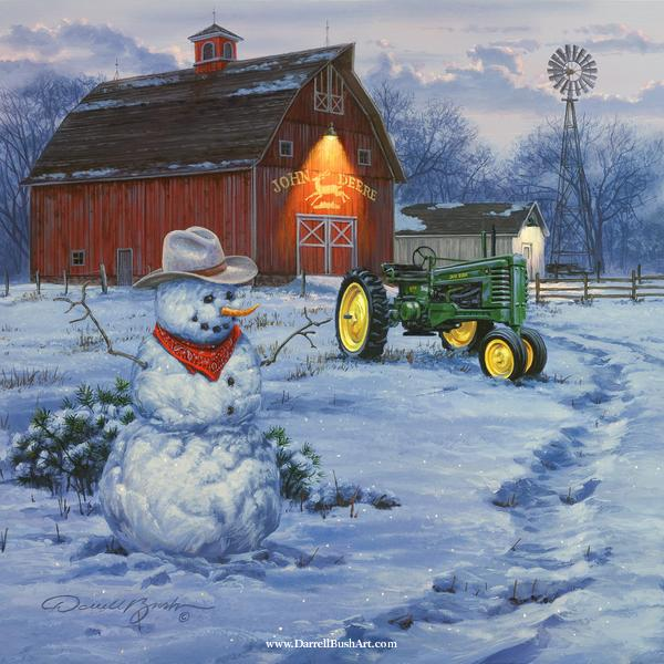 Country Christmas Background Wallpaper.Details About Darrell Bush Country Christmas Open Edition On Paper