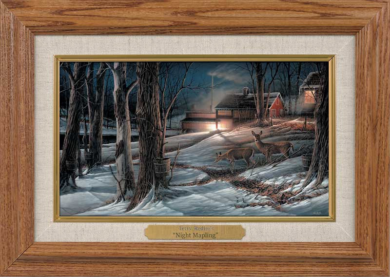 Terry Redlin Night Mapling Collage Collection Canvas