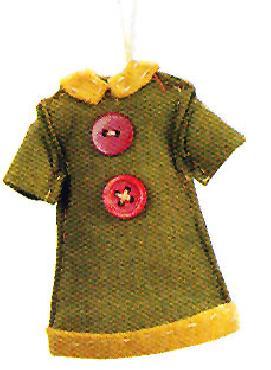 Paula Joerling Lang Felt Ornament - Pretty Dress