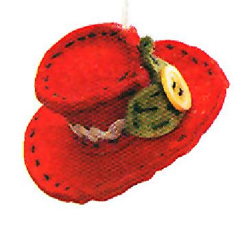 Paula Joerling Lang Felt Ornament - Nice Hat