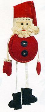 Paula Joerling Lang Felt Ornament Jolly Santa Ornament