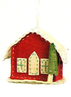 Paula Joerling Lang Felt Ornament - Cozy Cottage