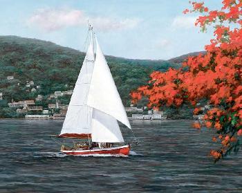 Diane Romanello Sail Away Giclee on Canvas