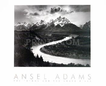 Ansel Adams Tetons And The Snake River Embossed Authorized Edition