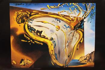Salvador Dali Melting Clock at Moment of First Explosion
