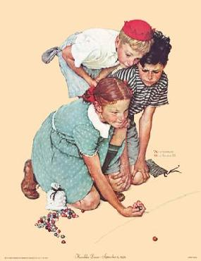 Norman Rockwell Knuckles Down