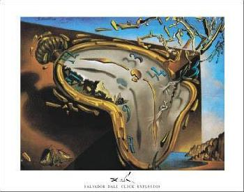 Salvador Dali Melting Clock at First Moment of Explosion