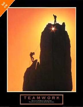 Anonymous Teamwork - Sunset Climbers NO LONGER IN PRINT - LAST ONES!!