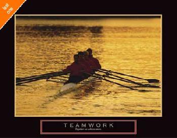 Anonymous Teamwork - Rowers NO LONGER IN PRINT - LAST ONES!!