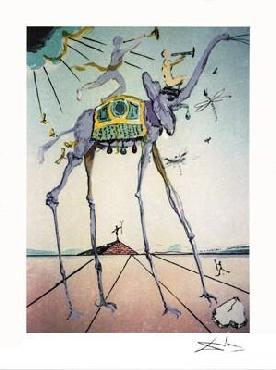 Salvador Dali Celestial Elephant Giclee on Paper Edition of 175