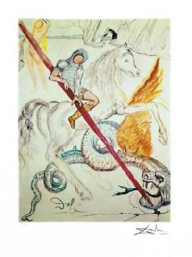 Salvador Dali Saint George And The Dragon Giclee on Paper Edition of 175