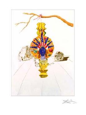 Salvador Dali American Clock B Giclee on Paper Edition of 175