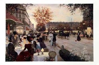 Christa Kieffer Paris in the Evening