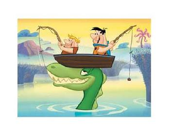 Looney Tunes Fred And Barney Fishin