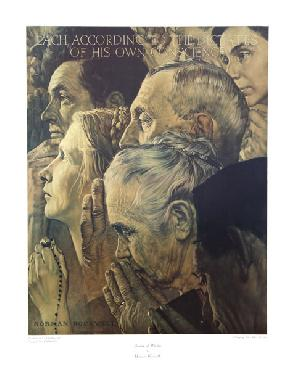 Norman Rockwell Freedom to Worship
