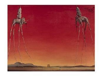 Salvador Dali Les Elephants, C.1948
