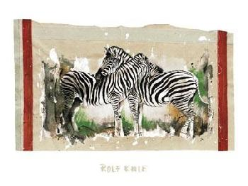 Rolf Knie Two Zebras
