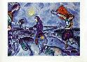 Marc Chagall Lovers over Paris