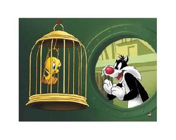 Looney Tunes Bird In A Guilty Cage Limited Edition Giclee of 500