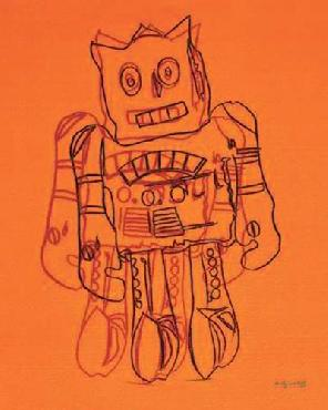 Andy Warhol Robot (orange)
