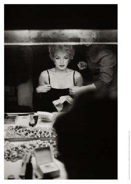 Sam Shaw Marilyn Monroe At Dressing Room Mirror, 1954