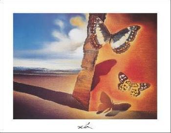Salvador Dali Paysage Aux Papillons, C.1956