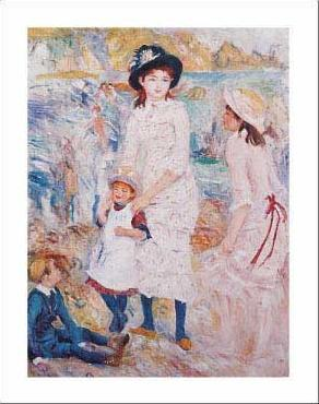 Pierre Auguste Renoir Children by the Seashore