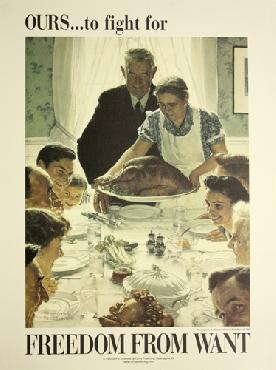 Norman Rockwell Ours To Fight For  -  Freedom From Want