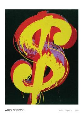 Andy Warhol Dollar Sign, 1981