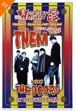 Dennis Loren Them - Van Morrison & Doors 1966 Whisky-A-Go-Go LA NO LONGER IN PRINT - LAST ONES!!