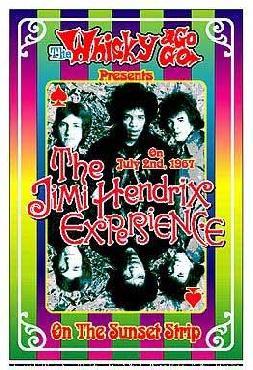 Dennis Loren Jimi Hendrix Experience 1967 Whisky-A-Go-Go Los Angeles