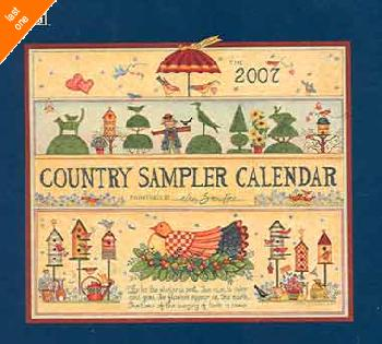 Ellen Stouffer Country Sampler 2007 Calendar LAST ONES!