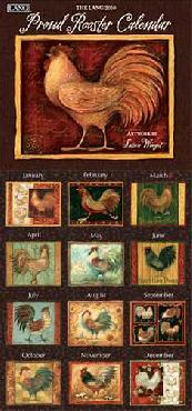 Susan Winget Proud Rooster 2010 Wall Calendar