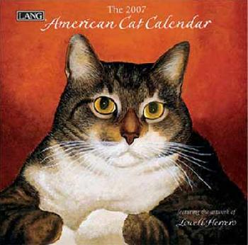 Lowell Herrero American Cat 2007 Small Wall Calendar