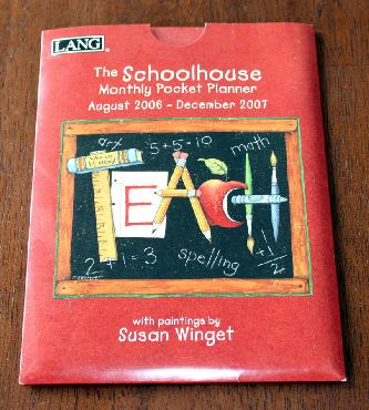 Susan Winget Schoolhouse 2006-07 Monthly Pocket Planner