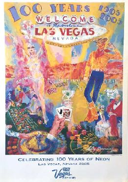 LeRoy Neiman 100 Years of Neon - Las Vegas Open Edition on Paper