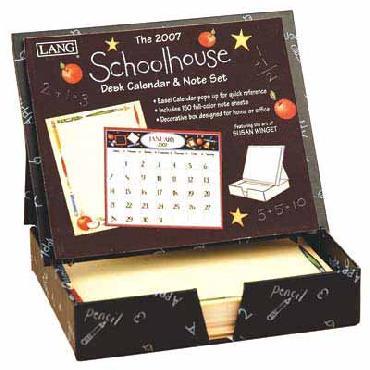 Susan Winget Schoolhouse Lang 2007 Desk Calendar & Note Set
