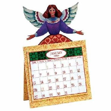 Jim Shore Patchwork Angel Dimensional 2008 Calendar