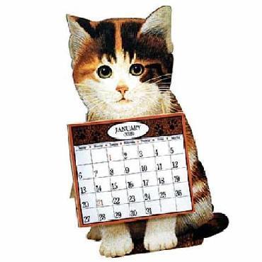 Lowell Herrero American Cat Dimensional 2008 Calendar