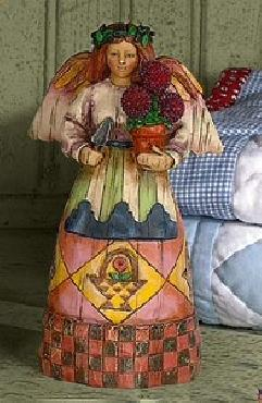 Jim Shore Angel with Potted Plant Figurine