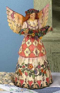 Jim Shore Angel with Flower Garland Figurine