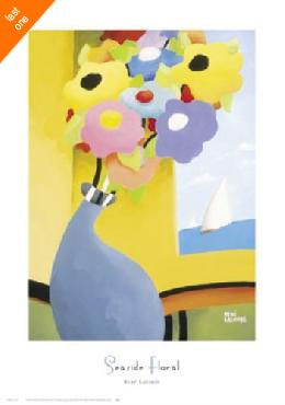 Rene Lalonde Seaside Floral Canvas LAST ONES IN INVENTORY!!