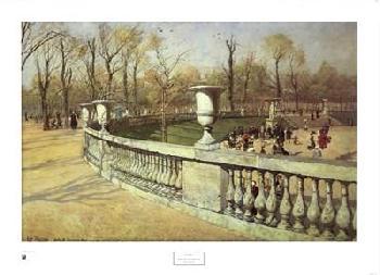 Johan Frederick Thaulow Jardin Du Luxembourg Canvas