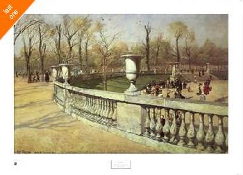 Johan Frederick Thaulow Jardin Du Luxembourg Canvas LAST ONES IN INVENTORY!!