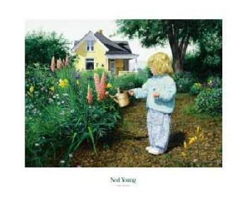 Ned Young Little Gardener Canvas