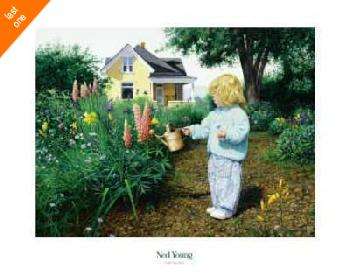 Ned Young Little Gardener Canvas LAST ONES IN INVENTORY!!