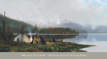Michael Coleman Visitors On The North Fork Canvas