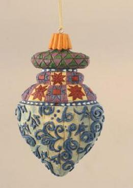 Jim Shore Blue Swirl Deboss Ornament
