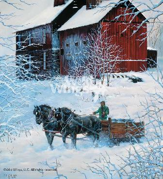 Chris Cummings Winter Delivery Remarque on Paper