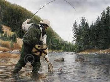 Kevin Daniel Fishing The Gallatin